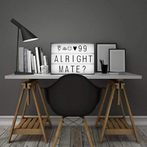 CINEMATIC LIGHT BOX - 96 Letters -  A4 Size