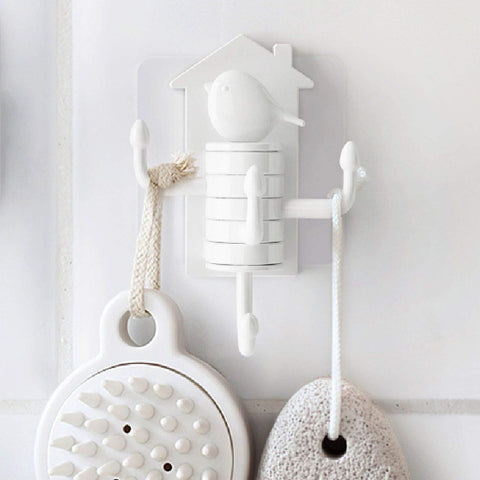 Quirky Birdy Hook Stong - White