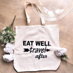 TOTE SHOPPING BAG - EAT WELL Travel After
