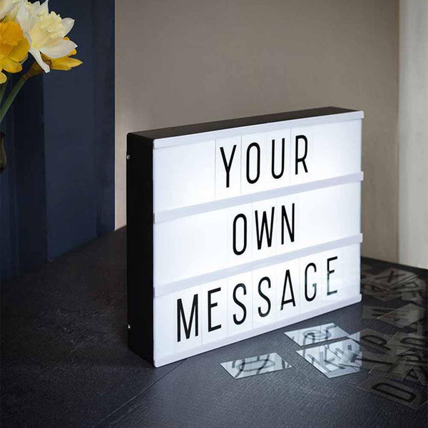 CINEMATIC LIGHT BOX - 96 Letters -  A4 Size - ThePeppyStore