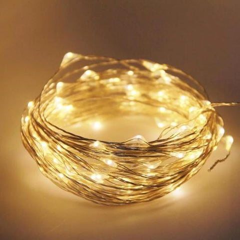Fairy Lights - Warm White - 10 meters - USB Operated - ThePeppyStore