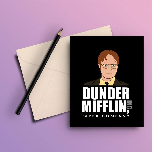 THE OFFICE DUNDER MIFFIN INC COMPANY GREETING CARD - ThePeppyStore