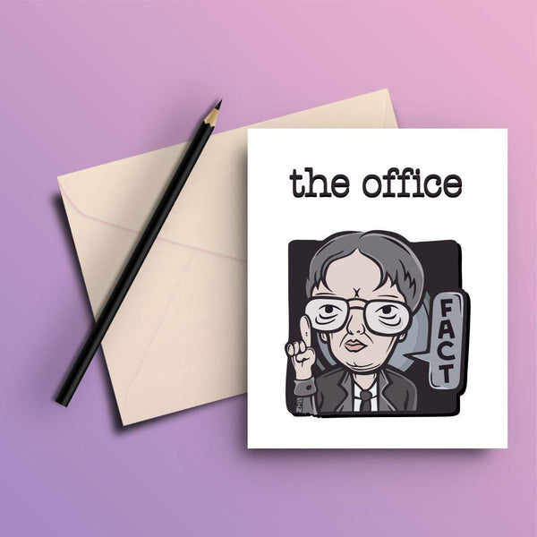 THE OFFICE DWIGHT FACTS GREETING CARD - ThePeppyStore