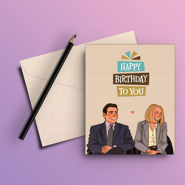 THE OFFICE HAPPY BIRTHDAY WISHING GREETING CARD - ThePeppyStore