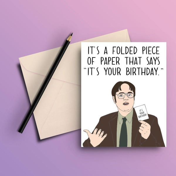 THE OFFICE FOLDED PIECE OF PAPER GREETING CARD - ThePeppyStore