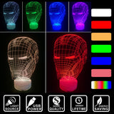 3d Nightlight Iron Man Face - ThePeppyStore