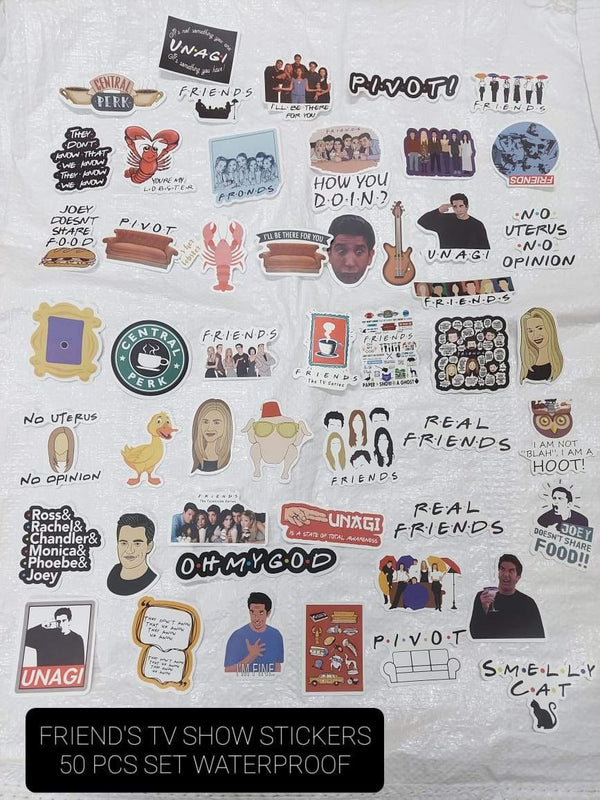FRIENDS sticker sheet - ThePeppyStore