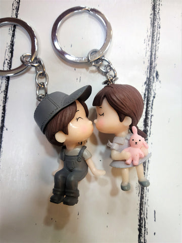 Cute Couple Keychain - Set Of 2