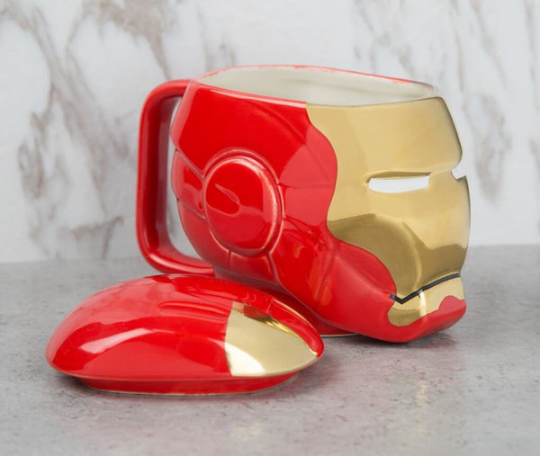 Iron Man high quality 3D Mug With Lid - ThePeppyStore