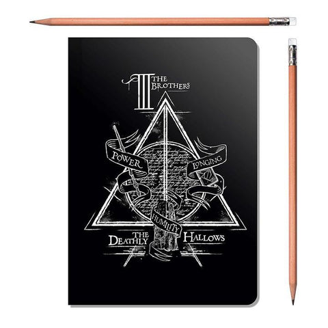 HARRY POTTER TRIANGLE A5 NOTEBOOK - ThePeppyStore