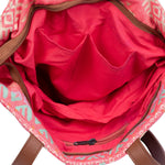 Bright Pink Cotton Jacquard Totes - ThePeppyStore