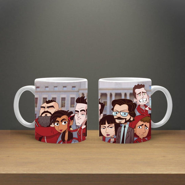 MONEY HEIST ALL CHARECTERS MUG - ThePeppyStore