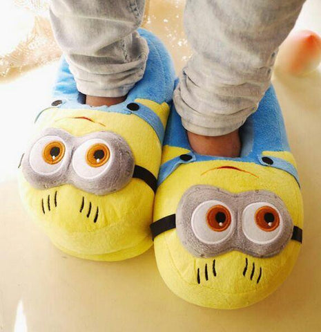 Minion Slippers For Adults - ThePeppyStore