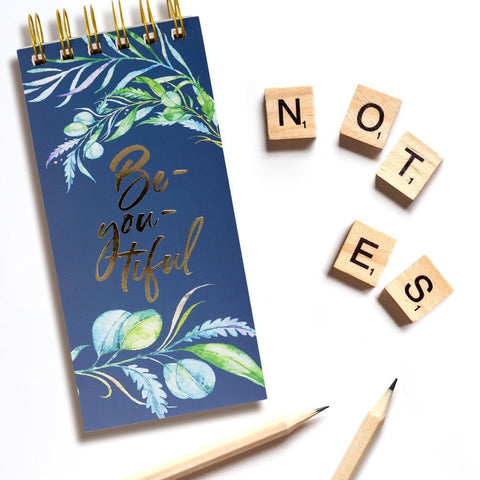 BEYOUTIFUL BLUE NOTEPAD