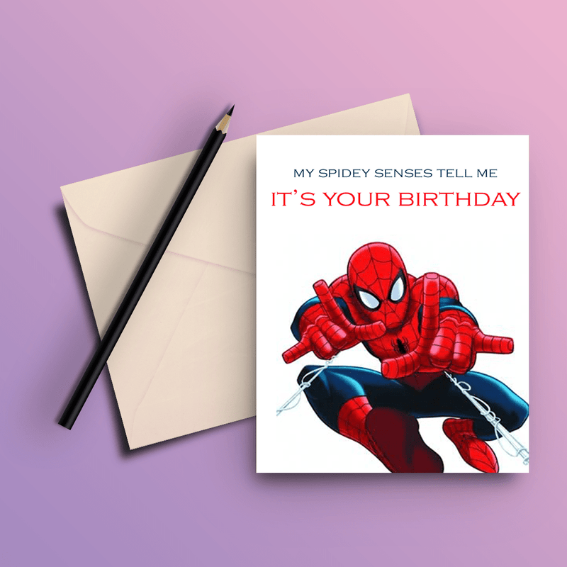 Spiderman Card - ThePeppyStore