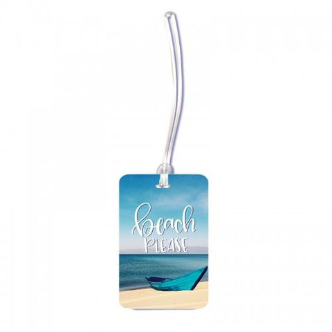 Beach Please Luggage Tag - ThePeppyStore