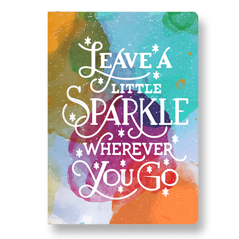 Leave A Little Sparkle Wherever You Go Pocket Diary - ThePeppyStore