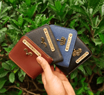 Personalised Mens wallet with Charm - ThePeppyStore