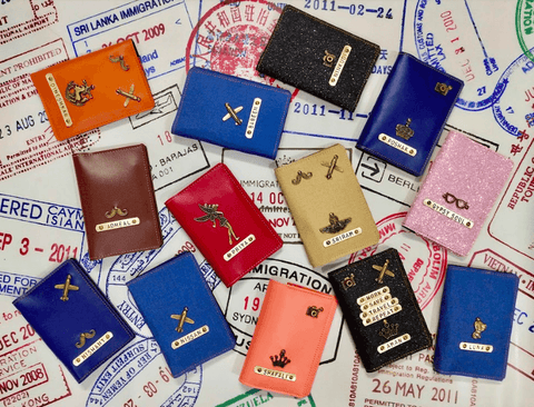 Personalised Passport Cover - 2 free charms - ThePeppyStore
