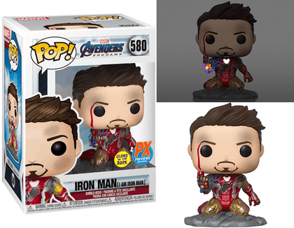 Funko Pop Marvel Avengers - I Am Iron Man (Metallic) (Glows in the Dark) #580 - ThePeppyStore