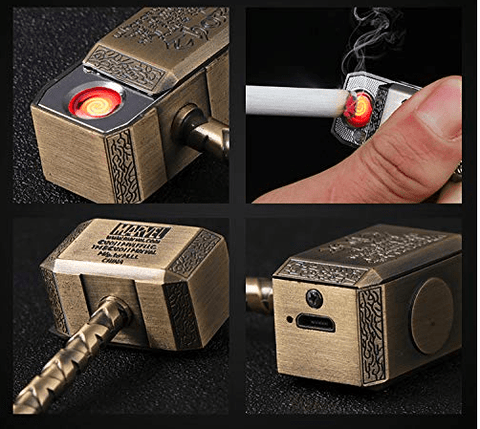 Thor Hammer Keychain Lighter