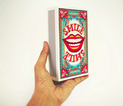 Small Matchbox Gift Box: SMILE - ThePeppyStore
