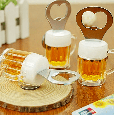 Beer Glass Fridge Magnet / Bottle Opener