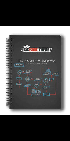 THE BIG BANG THEORY FRIENDSHIP ALGORITHM A5 NOTEBOOK - ThePeppyStore