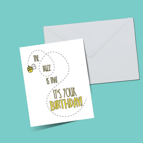 The buzz that ot's your birthday card - ThePeppyStore