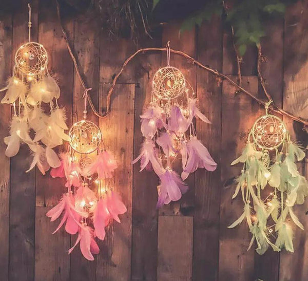 Dreamcatcher With Fairy Lights - ThePeppyStore