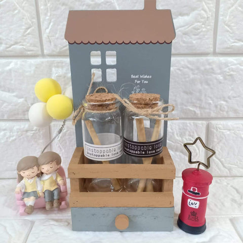Cute Message Bottles With A Drawer - ThePeppyStore
