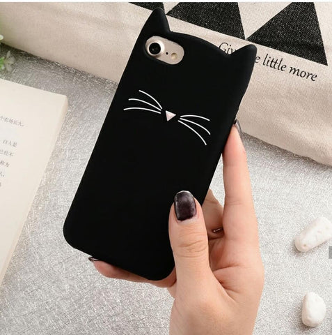 CUTE SILICON CAT CASE - ThePeppyStore
