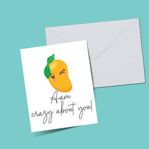 Aam Crazy about you Card - ThePeppyStore