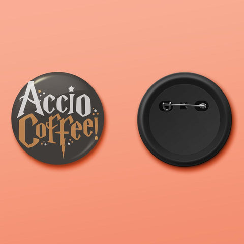 Accio coffee badge