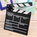 Wooden Director's Film Movie Slateboard Clapper Board (Black) - ThePeppyStore