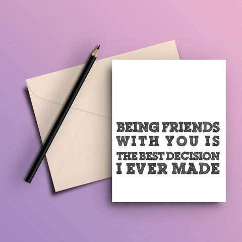 Being freinds card