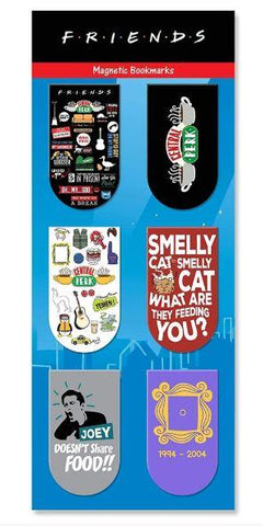FRIENDS TV SERIES MAGNETIC BOOKMARKS - PACK OF 6 - ThePeppyStore