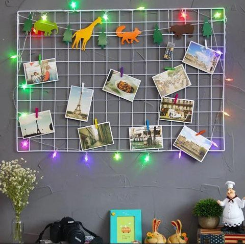Metal Mesh Grid Photo Frame (No COD On This Product)