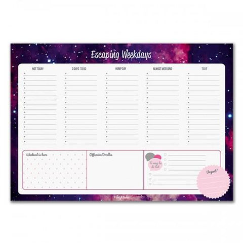 Escaping Weekdays Weekly Planner - ThePeppyStore