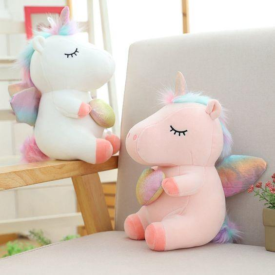 Unicorn Holding Heart Soft Toy - ThePeppyStore