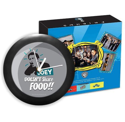 FRIENDS - TV SERIES -JOEY DOESN'T SHARE FOOD TABLE CLOCK - ThePeppyStore