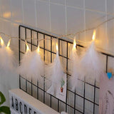 Feather String Lights - White - ThePeppyStore