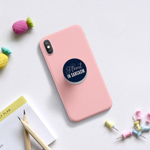 Fluent In Sarcasm phone holder / phone grips - ThePeppyStore