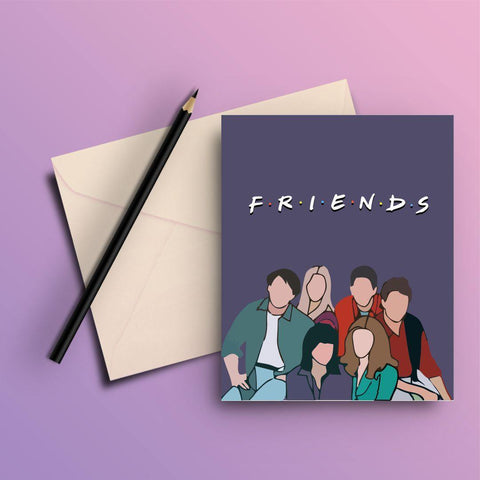 FRIENDS ORIGINAL POSTER CARTOON GREETING CARD - ThePeppyStore