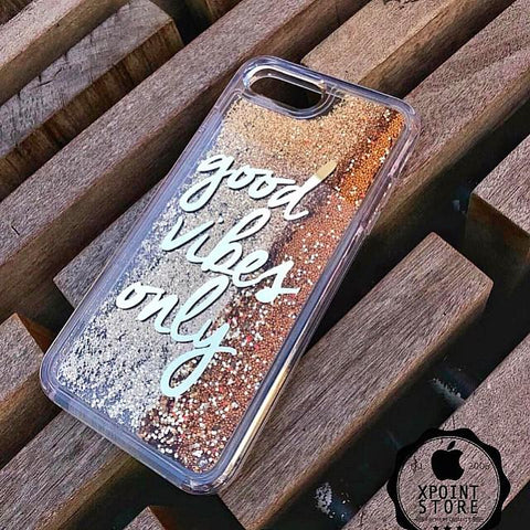 Good Vibes Only phone case - Golden - ThePeppyStore