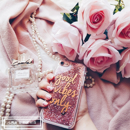 Good Vibes Only phone case - Rose Gold - ThePeppyStore