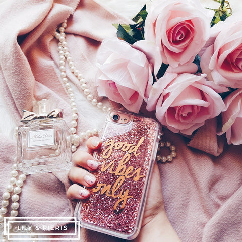 Good Vibes Only phone case - Rose Gold