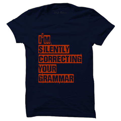 I am silently correcting your Grammar - ThePeppyStore