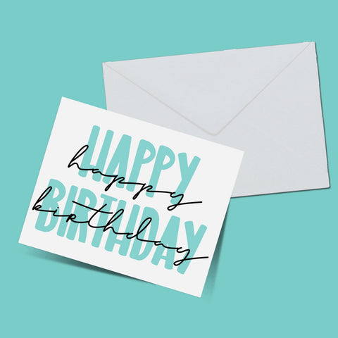 Happy birthday card - ThePeppyStore