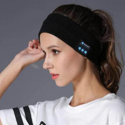 WIRELESS BLUETOOTH NOISE CANCELLING HEADPHONES HEADBAND FOR SPORTS AND SLEEP